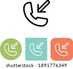 incoming call phone vector icon ...