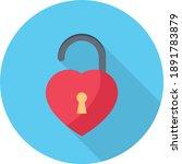 Unlock Heart  Vector Flat...