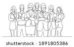 continuous line drawing of... | Shutterstock .eps vector #1891805386