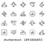 swiss knife line icon set....   Shutterstock .eps vector #1891806853