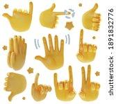 realistic detailed 3d emoji... | Shutterstock .eps vector #1891832776