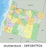 oregon   highly detailed... | Shutterstock .eps vector #1891847926