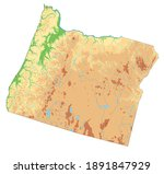 highly detailed oregon physical ... | Shutterstock .eps vector #1891847929