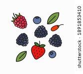 berry blend logo. raspberry ...   Shutterstock .eps vector #1891853410