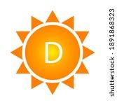 vitamin d sun  great design for ... | Shutterstock .eps vector #1891868323