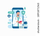 online medical support doctor... | Shutterstock .eps vector #1891871563
