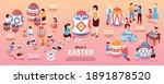 easter isometric infographics... | Shutterstock .eps vector #1891878520