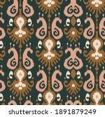ethnic ikat chevron pattern... | Shutterstock .eps vector #1891879249