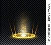gold hologram portal. magic...