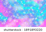 mermaid background. holographic ...   Shutterstock .eps vector #1891893220