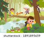 forest school movement... | Shutterstock .eps vector #1891895659