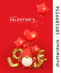 valentine's day background.... | Shutterstock .eps vector #1891899556
