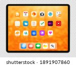isolated digital tablet with...