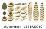 set of fresh whole and sliced... | Shutterstock .eps vector #1891920760