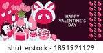 happy valentine day background... | Shutterstock .eps vector #1891921129