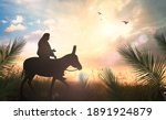 Palm Sunday Concept  Silhouette ...