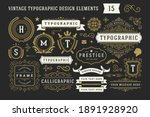 vintage typographic decorative... | Shutterstock .eps vector #1891928920