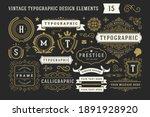 vintage typographic decorative... | Shutterstock .eps vector #1891928920