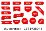 sticker tag new ribbon icon... | Shutterstock .eps vector #1891938043