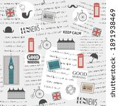 british background with news...   Shutterstock .eps vector #1891938469