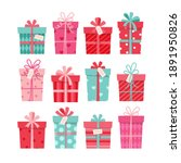 valentine s day gift collection ... | Shutterstock .eps vector #1891950826