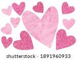 Decorative Textured Hearts Fur...