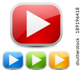 play buttons | Shutterstock .eps vector #189196418