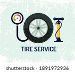 tire fitting. pump  car wheel...   Shutterstock .eps vector #1891972936