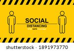 social distancing. keep the 1 2 ... | Shutterstock .eps vector #1891973770