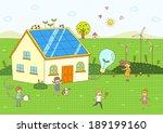illustration of children   Shutterstock . vector #189199160