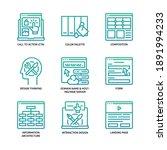ux ui design icons set gradient ... | Shutterstock .eps vector #1891994233