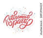 retirement party. vector... | Shutterstock .eps vector #1891994419