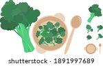 broccoli vegetable whole...   Shutterstock .eps vector #1891997689