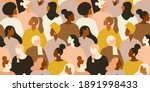 female diverse faces of...   Shutterstock .eps vector #1891998433