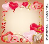 valentines day background with...   Shutterstock .eps vector #1892017453