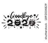 goodbye coronavirus. lettering...   Shutterstock .eps vector #1892034829