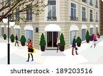 illustration of city life | Shutterstock . vector #189203516