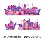 cute  romantic streets of the...   Shutterstock . vector #1892037340