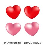 high quality 3d heart for your... | Shutterstock .eps vector #1892045023
