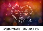 panoramic red purple bokeh with ... | Shutterstock . vector #1892051149