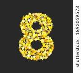 gold glittering number eight on ... | Shutterstock . vector #1892059573