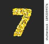 gold glittering number seven on ... | Shutterstock . vector #1892059576