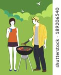cooking bbq | Shutterstock . vector #189206540