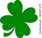 Green Lucky Four Leaf Irish...