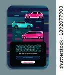 newsletter design with vans and ...   Shutterstock .eps vector #1892077903