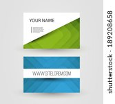 business or gift card with... | Shutterstock .eps vector #189208658