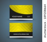 business or gift card with... | Shutterstock .eps vector #189208664