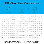 clean line vector icons | Shutterstock .eps vector #189209384
