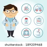 medical design over blue... | Shutterstock .eps vector #189209468