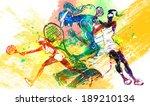 illustration of sports tennis | Shutterstock . vector #189210134